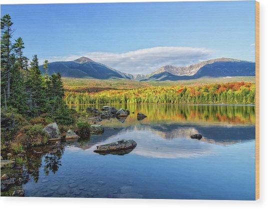 Sandy Stream Pond Baxter Sp Maine Wood Print