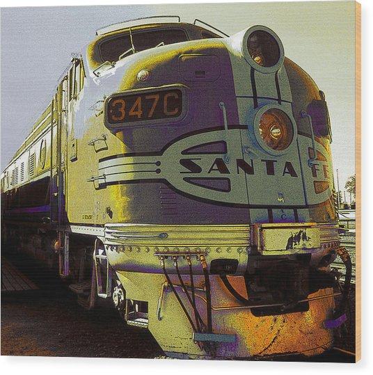 Santa Fe Railroad 347c - Digital Artwork Wood Print