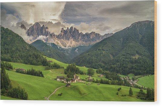 Santa Maddalena Wood Print