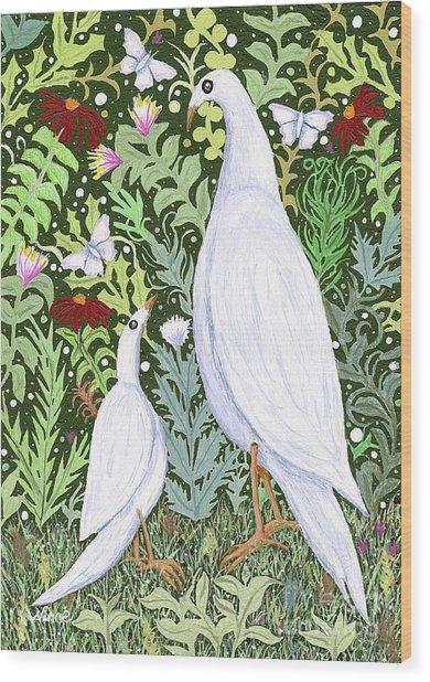 Sapientes Pacis Birds Wood Print