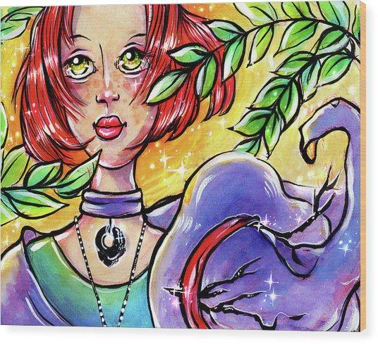 Sarahfina Sun Wood Print