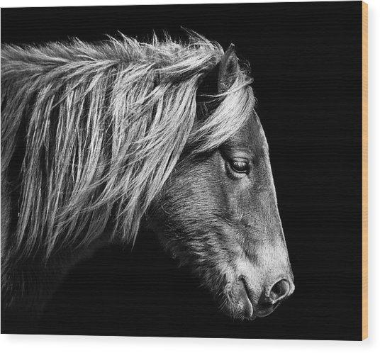 Sarah's Sweat Tea Portrait In Black And White Wood Print