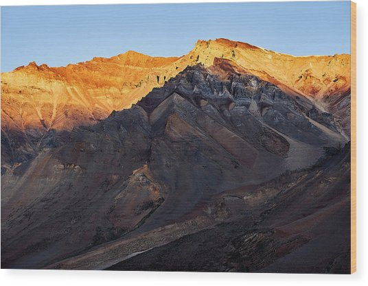 Sarchu Sunrise Wood Print