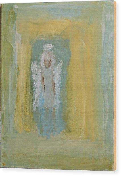Sassy Frassy Angel Wood Print
