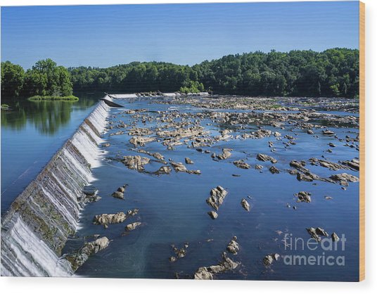 Savannah River Rapids - Augusta Ga 2 Wood Print
