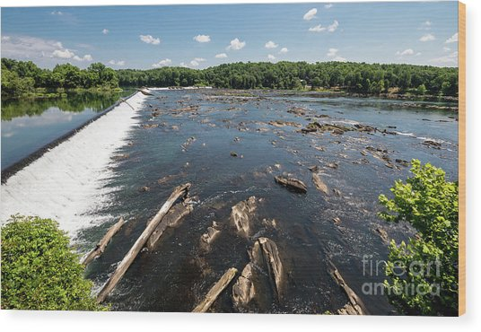 Savannah River Rapids - Augusta Ga Wood Print