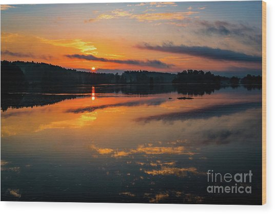 Savannah River Sunrise - Augusta Ga 2 Wood Print