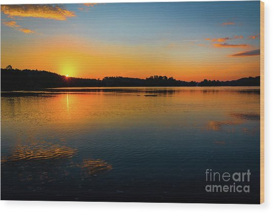 Savannah River Sunrise - Augusta Ga Wood Print