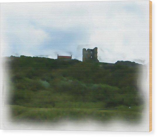 Scarborough Castle Painting Wood Print