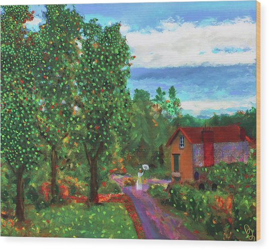 Scene From Giverny Wood Print
