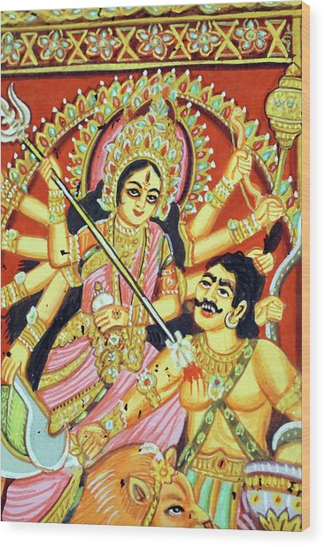 Scenes From The Ramayana Wood Print