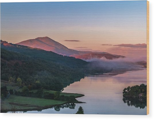 Schiehallion  From Queen's View Wood Print by David Ross
