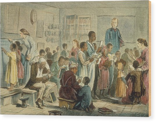 School For Slaves Wood Print by Fotosearch