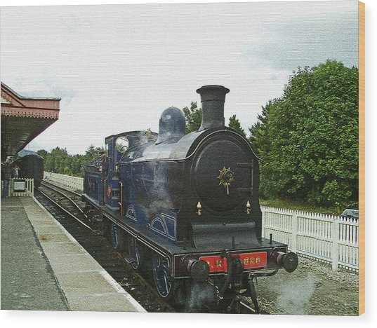Scotland. Aviemore. Strathspey Railway. Wood Print