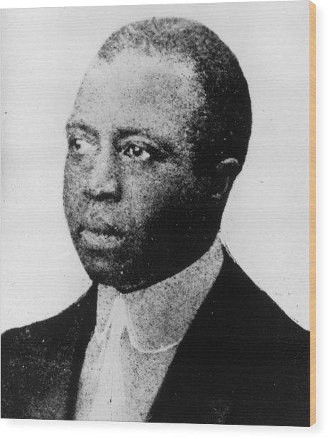 Scott Joplin Wood Print by Hulton Archive