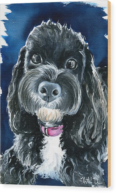 Scout - Cavoodle Dog Painting Wood Print