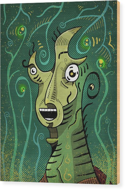 Wood Print featuring the digital art Scream by Sotuland Art