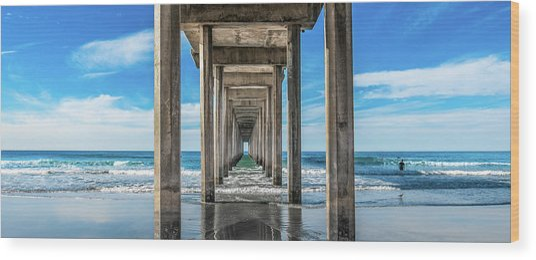 Scripps Pier La Jolla California Wood Print