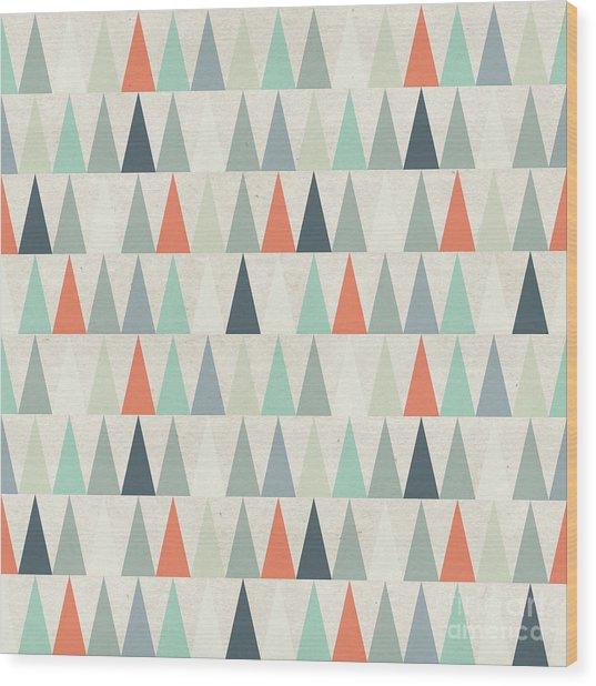Seamless Geometric Pattern On Paper Wood Print