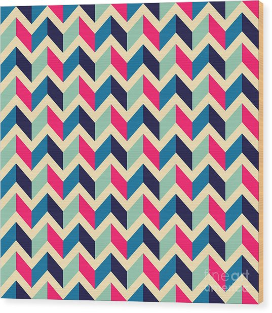 Seamless Geometric Pattern With Wood Print
