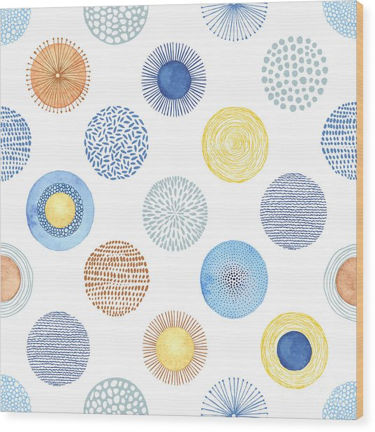 Seamless Summer Pattern With Hand-drawn Wood Print