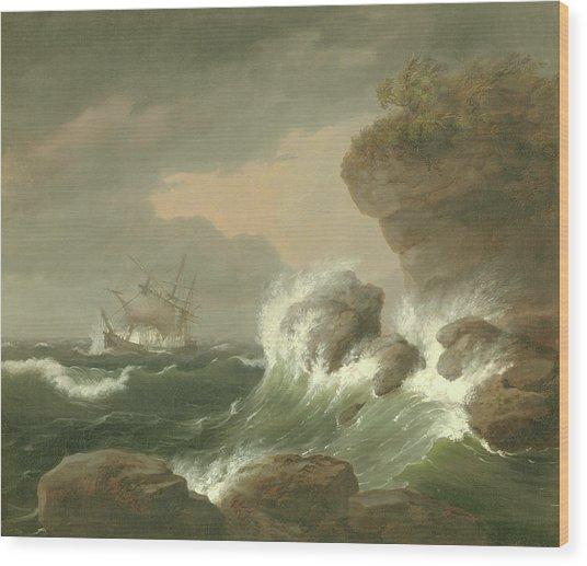 Seascape, 1835 Wood Print