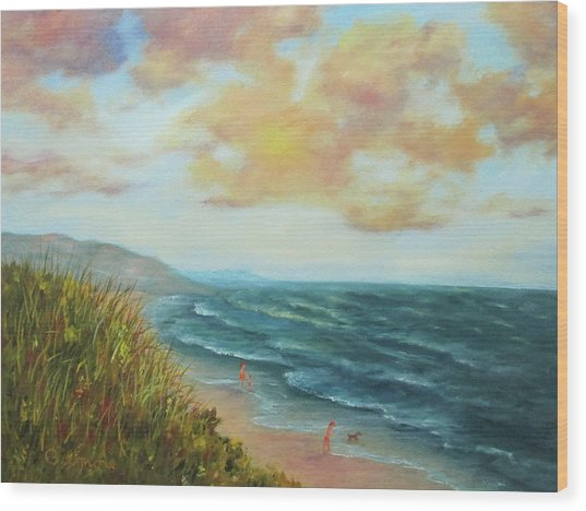Secluded Beach Wood Print