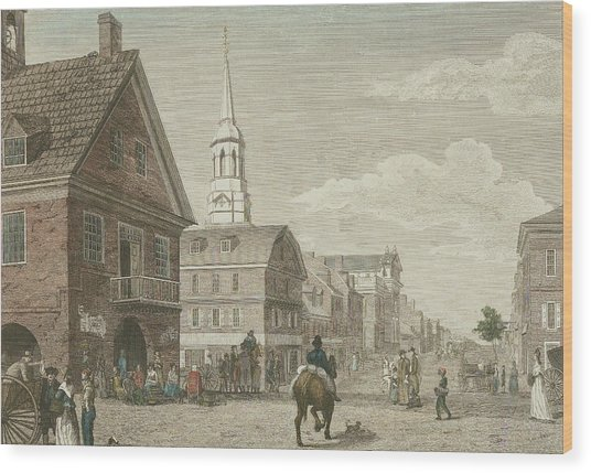Second Street North From Market St. And Christ Church Wood Print