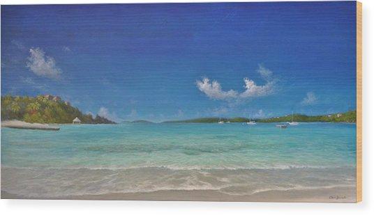 Secret Harbour Blue Wood Print