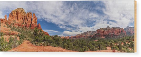Sedona, Az - North From Chicken Point Wood Print