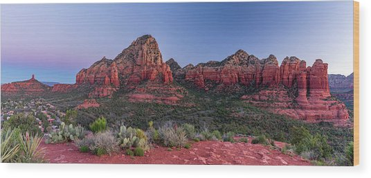 Sedona, Az -  Sunrise Wood Print