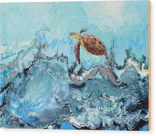 See Turtle Wood Print
