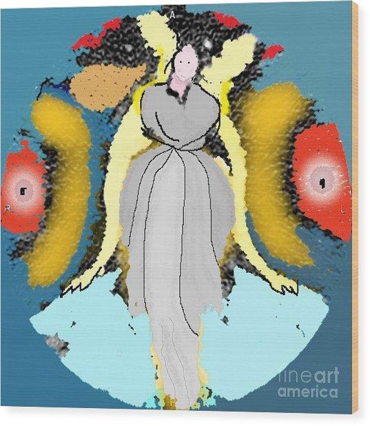 Seeing Angels Wood Print
