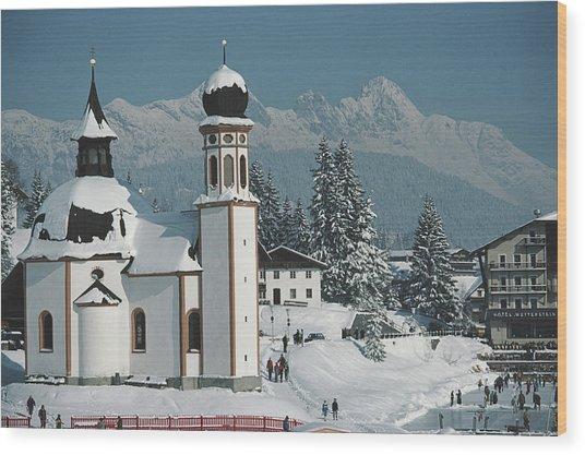 Seekirchl In Seefeld Wood Print by Slim Aarons