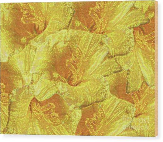 Selective Yellow Lilies Wood Print
