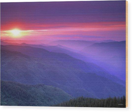Selway Sunrise Wood Print