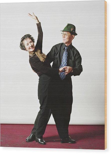 Senior Couple, Dancing, Portrait Wood Print