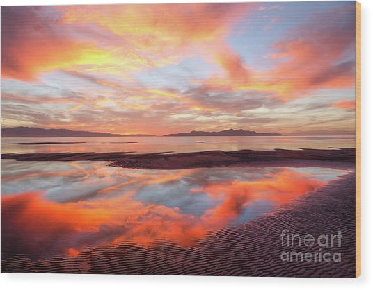 Wood Print featuring the photograph September Sunset by Spencer Baugh