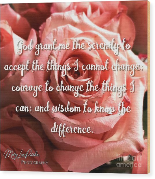 Serenity Prayer II Wood Print