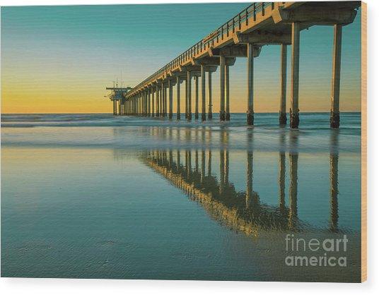 Serenity Scripps Pier La Jolla San Diego Wood Print