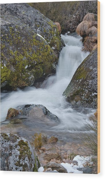 Serra Da Estrela Waterfalls. Portugal Wood Print