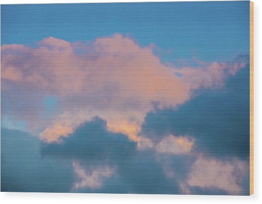 Shades Of Clouds Wood Print
