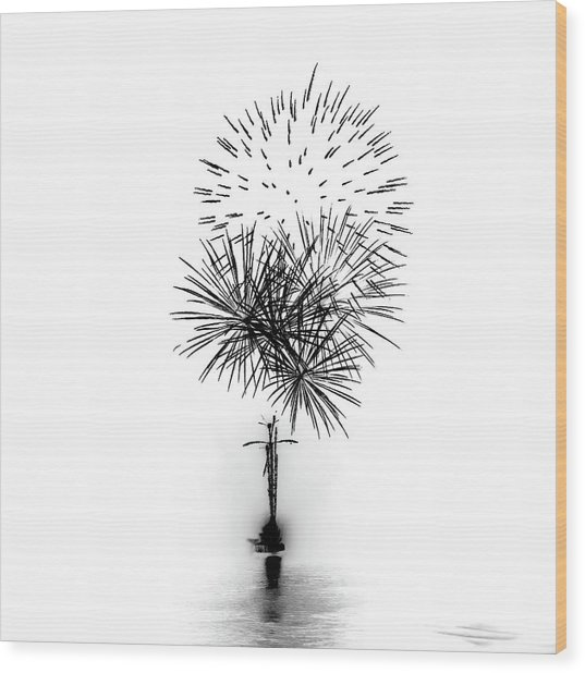 Shades Of Grey Collection Set 01 Wood Print