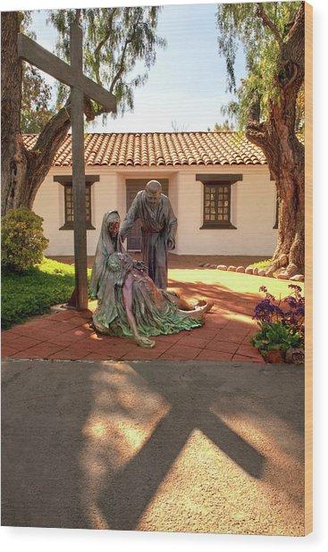 Shadow Of The Cross Wood Print