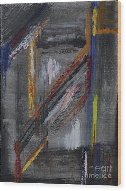 Wood Print featuring the painting Shaft by Karen Fleschler