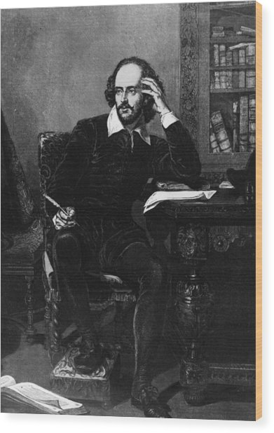 Shakespeare Wood Print by Hulton Archive
