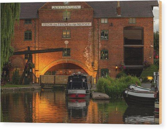 Shardlow Wharf Wood Print