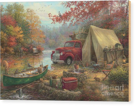Share The Outdoors Wood Print