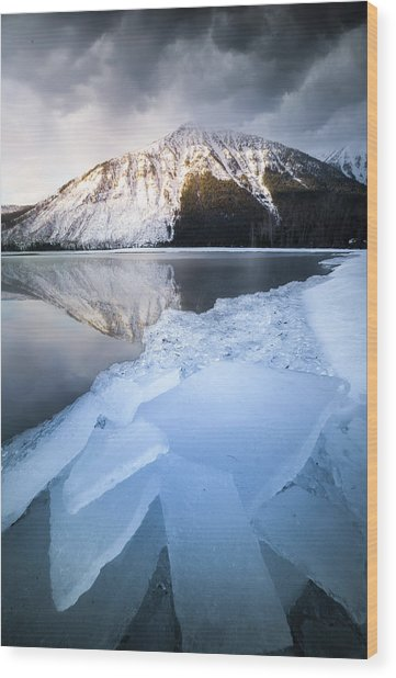 Shattered Ice / Lake Mcdonald, Glacier National Park  Wood Print