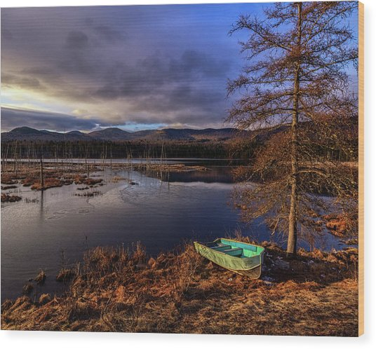 Shaw Pond Sunrise - Landscape Wood Print